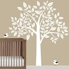 Vinyl Wall Decal Babies Nursery Blossom Tree Decals White Tree With Birds Home House Wall Sticker Stickers Baby Room Kid Mural Kids P835 Thefuns On Artfire