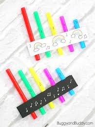 homemade pan flutes for kids with free