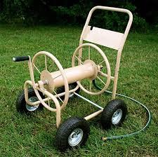 industrial grade 4 wheel hose reel cart