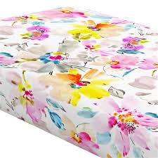 watercolor fl crib sheet carousel