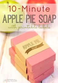 10 minute apple pie soap labels