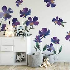 Wall Decal Violet Fields Etsy Kids Wall Decor White Kids Room Wall Decor