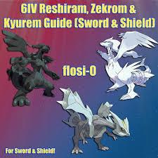 6IV Ultra Shiny Reshiram Zekrom Kyurem Pokemon Sword and Shield ...