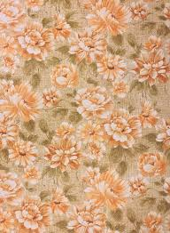 1960s vine flower pattern wallpaper