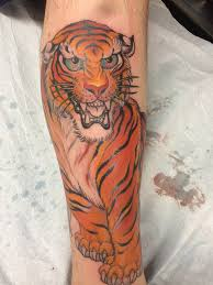 Cool Tiger Tattoo by Chris Garver