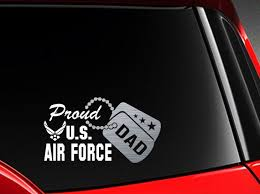 Proud Us Air Force Dad Vinyl Car Decal Sticker 7 5 W Etsy