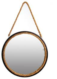 16 round rope wall mirror beach