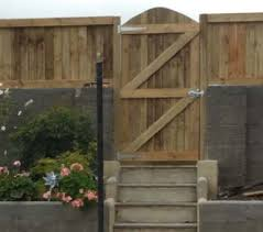 garden gate in a ledge and brace