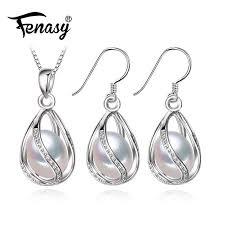 2020 fenasy flower pearl jewelry set