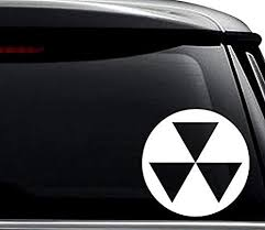 Amazon Com Fallout Shelter Nuke Symbol Decal Sticker For Use On Laptop Helmet Car Truck Motorcycle Windows Bumper Wall And Decor Size 15 Inch 38 Cm Tall Color Gloss Black Arts