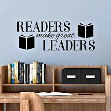 Reading Corner Decal Readers Make Great Leaders Classroom Wall Decal 30 W X 11 H Black