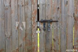 Fence Gate With A Lock And A Bolt Buy This Stock Photo And Explore Similar Images At Adobe Stock Adobe Stock