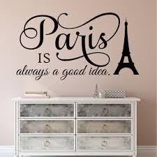 Travel Wall Decal Paris Is Always A Good Idea Eiffel Tower Decor