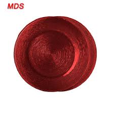 turkish red clear glass charger plates