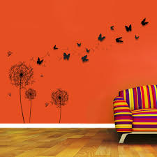 Walplus Huge Dandelion And 3d Butterfly Wall Decal Reviews Wayfair
