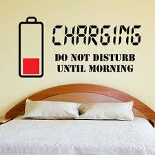 Charging Do Not Disturb Wall Sticker Wall Quote Art Decal Teenager Bedroom W132 Ebay