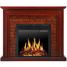 jamfly electric fireplace mantel