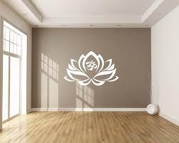 Lotus Vinyl Flower Decals Modern Wall Art Sticker
