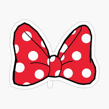 Minnie Bow Stickers Redbubble