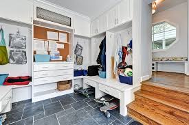 Boarding School Rooms Contemporary Entry And Builtins Ceiling Lighting Closets Coat Hooks Kids Storage Lockers Mud Room Mudroom Recessed Lighting Shaker Cabinets Storage Tile Floors White Cabinets White Trim Finefurnished Com