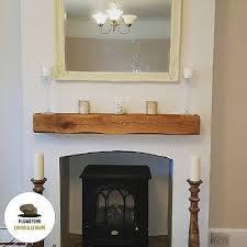 oak mantle fireplace beam rustic