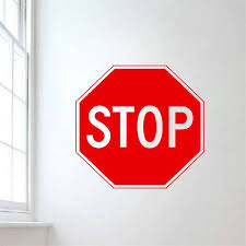 Creative Stop Sign Wall Decal Livingroom Traffic Signs Wall Stickers For Kids Rooms Art Mural Removable Modern Home Diy Syy649 Sticker For Kids Room Wall Stickers For Kidswall Sticker Aliexpress