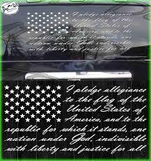 Amazon Com American Flag Pledge Of Allegiance Decal Us Vinyl Truck Window Sticker Patriotic 10 X 16 Clothing
