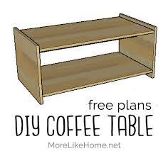 diy simple minimalist coffee table