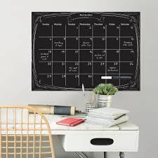 Wall Pops Black Pen Ink Monthly Calendar Wall Decal Wpe2293 The Home Depot