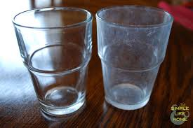 hard water stains from drinking glasses