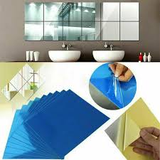 16 bathroom mirror tiles wall stickers