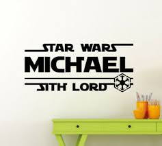 Personalized Star Wars Wall Decal Custom Name Sith Lord Geek Vinyl Sticker 135ct Ebay