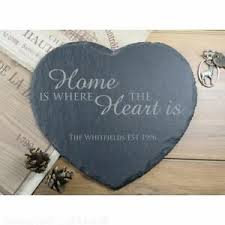 personalised end heart slate