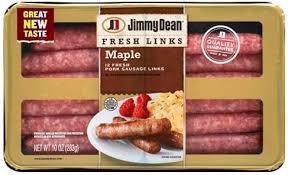 jimmy dean pork links maple sausage