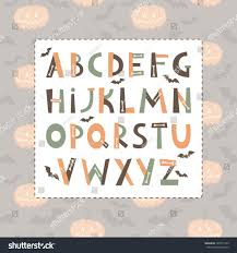 Halloween Abc Bats Bones Colorful Letters Stock Vector (Royalty Free)  324575123