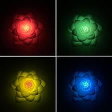 Shop Bluelans Lotus Shape Colorful Led Night Light Kids Room Bedroom Bedside Decorative Lamp Online From Best Emergency Lamp Flashlight On Jd Com Global Site Joybuy Com