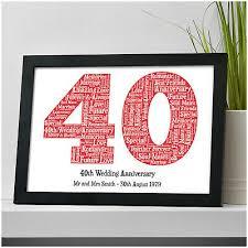 40th wedding anniversary gifts