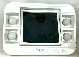 jerdon led lighted makeup mirror 1x