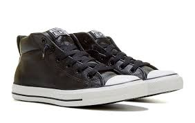 star street mid top leather sneakers