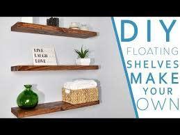 easy diy floating shelves no bracket