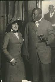 """Lot Detail - 1913 Jack Johnson with Wife Lucille Johnson """"Rogers ..."""