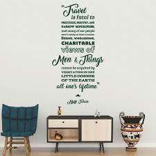 Mark Twain Travel Quote Wall Decal Shop Decals From Dana Decals