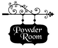 Powder Room Bathroom Sign House Office Vinyl Wall Art Decal Removable Ships Free Ebay