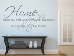 Home Family And Friends Wall Quote Sticker Friends And Family Wall Decal Ebay