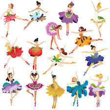 Amazon Com Flower Ballerina Large Wall Decal Set Arts Crafts Sewing