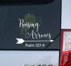 Amazon Com Celycasy Raising Arrows Psalm 1274 Bible Verse Tribal Vinyl Car Decal Home Kitchen