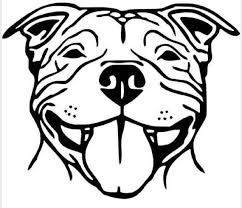 Pitbull Smiling Vinyl Decal Pit Car Sticker Pitt Wall Decor Etsy
