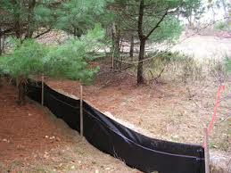 J S Mcclure Tree Cutter And Hay Bales Silt Fence Brought In