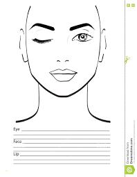 makeup face template printable