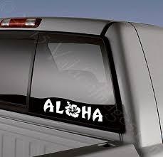 Aloha Summer Vinyl Sticker Decal Laptop Decal Car Decal Stickers